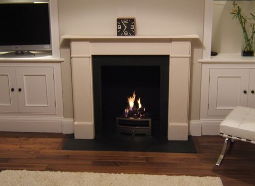 Stone hearth fireplace surrounds fireplaces south west for Fireplaces southwest
