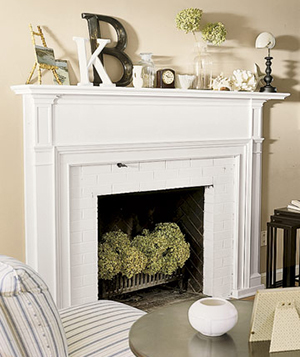 Summer fireplace decor